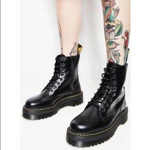 NIB! Dr. Martens Jaden Black Leather Boots in US 8